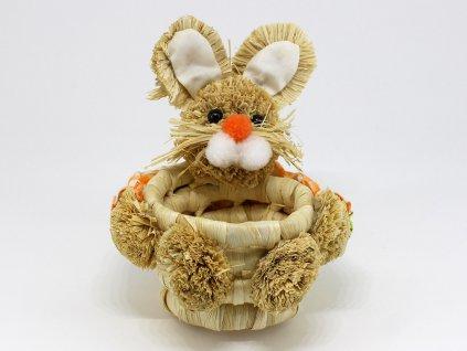 Košík zajíček - oranžový