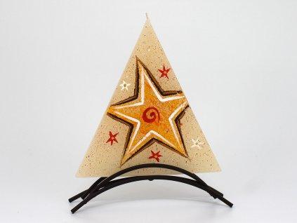 Plochá svíčka Hvězda