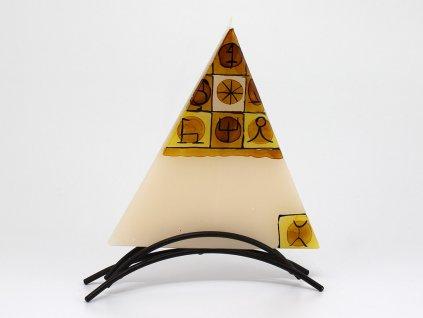 Plochá svíčka Inca - trojúhelník