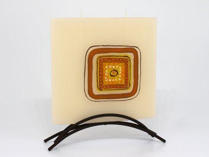 Plochá svíčka Geo - čtverec