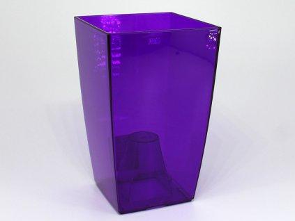 Obal na orchideje - fialová transparentní