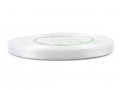 Saténová stuha 0,6cm - bílá