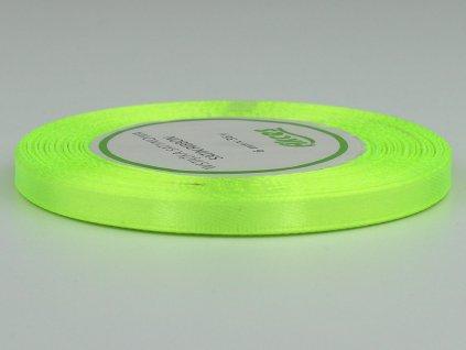 Saténová stuha 0,6cm - zelené jablko