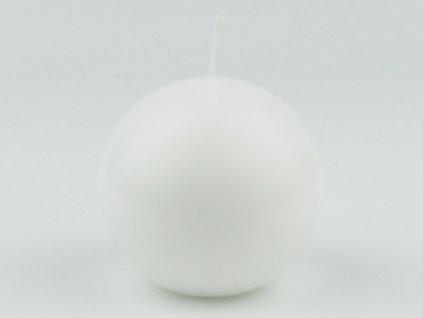 Svíce koule 80 - bílá