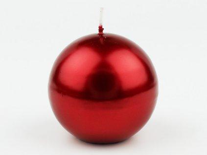 Svíce koule 80 - červená metalická