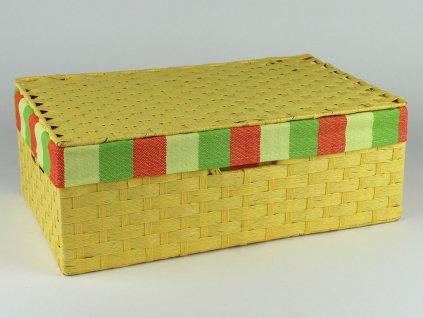 Kufřík provázkový 5ks - žlutý
