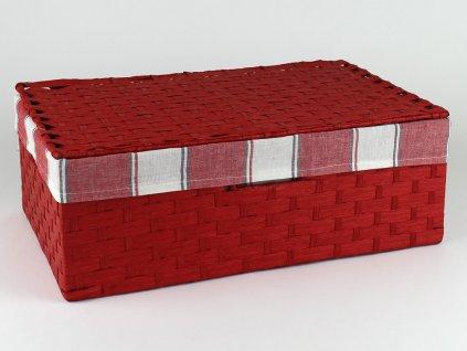Kufřík provázkový 5ks - červený