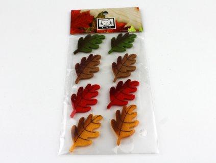 Dubové listí 8ks