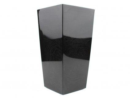 Plastový obal čtvercový - černá