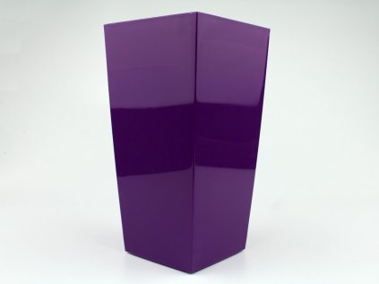 Plastový obal čtvercový 14cm - fialová