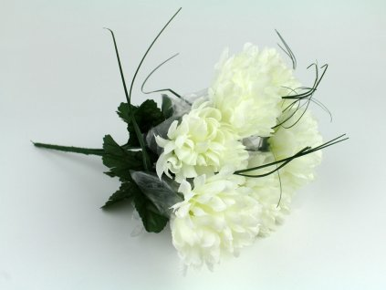 Chryzantéma svazek 7ks - bílá
