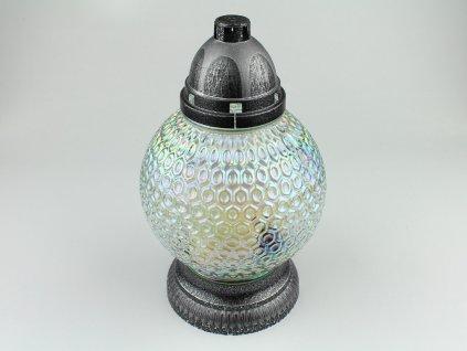 Skleněná svíčka koule holografická 2ks