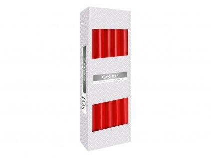 10. Kónické svíčky 10ks červená BS30 030
