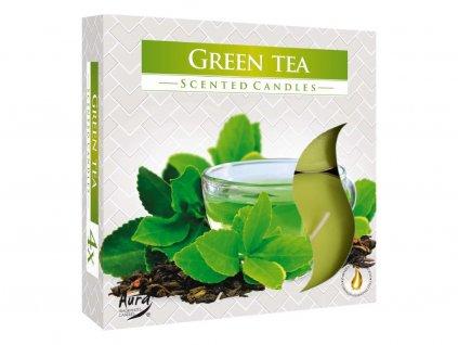 6. Čajové svíčky Maxi 4 ks zelený čaj