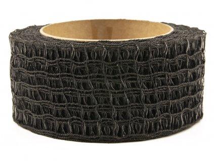 Děrovaná stuha 5cm - černá