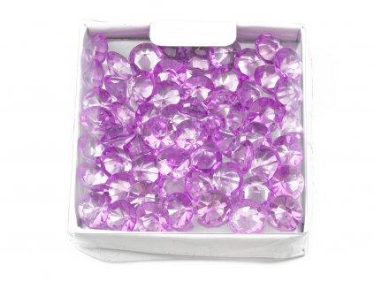 Diamanty ∅ 1cm - fialová