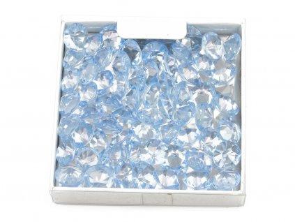 Diamanty ∅ 1cm - světle modrá