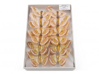 Motýlci 12ks - béžová