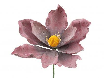 Latexová květina - bordó
