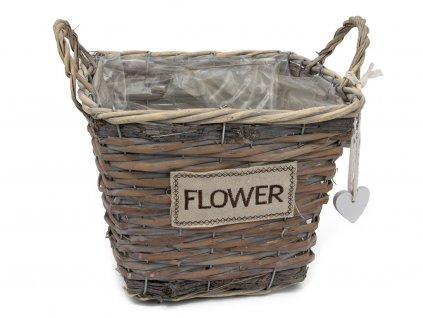 Obal na květiny FLOWER - čtverec 3ks