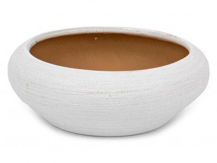 Miska plochá 16cm- bílá
