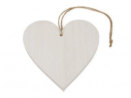 Dřevěné srdce 15cm
