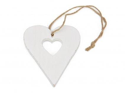 Dřevěné vykrojené srdce 10cm
