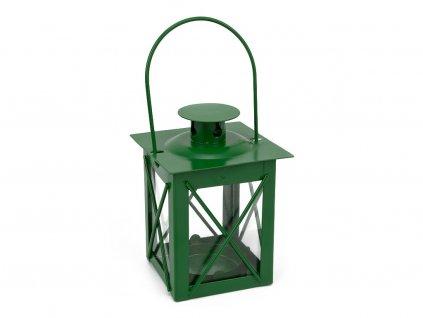 Kovová lucerna - zelená