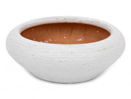 Miska plochá 14cm- bílá