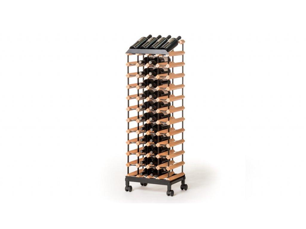 388 pojizdny stojan na vino s kapacitou 48 lahvi
