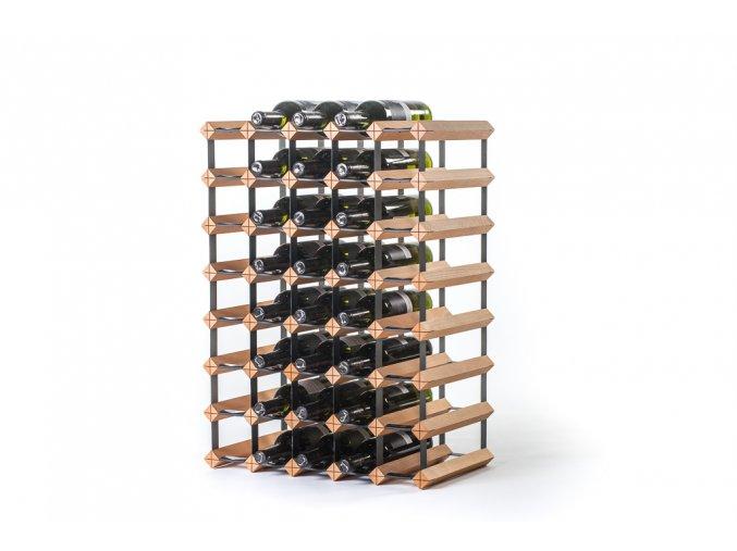 Stojan na víno s kapacitou 40 lahví