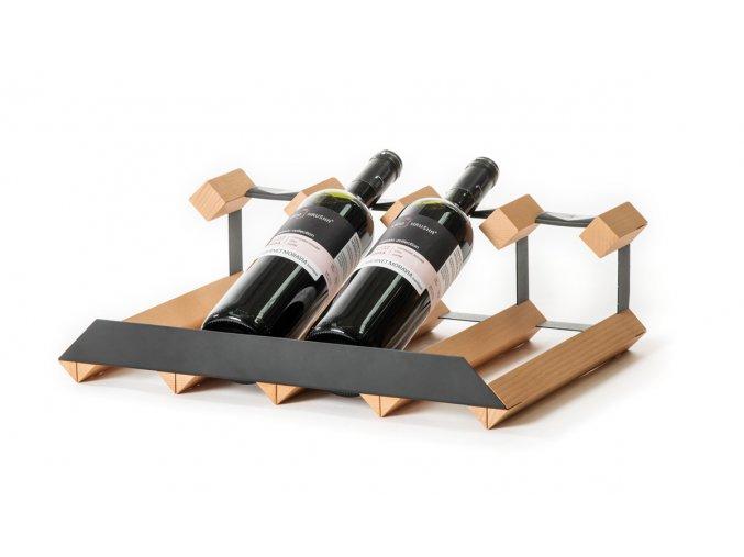 337 stojan na vino pultovy s kapacitou 4 lahve