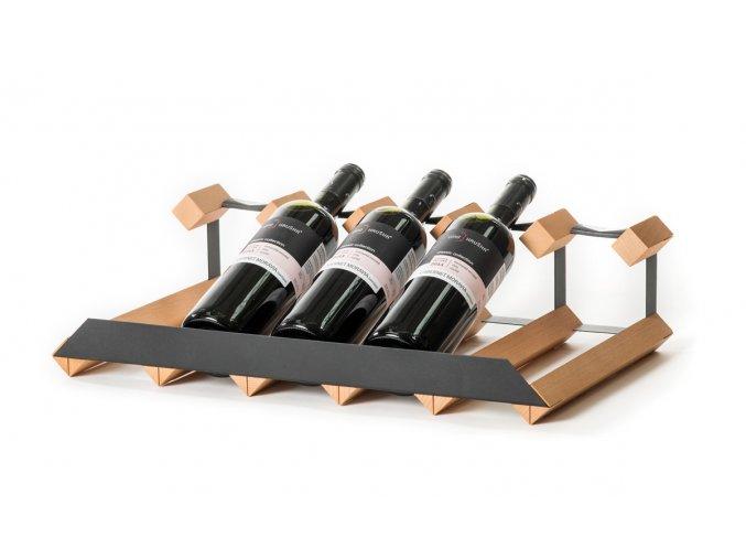 340 stojan na vino pultovy s kapacitou 5 lahvi