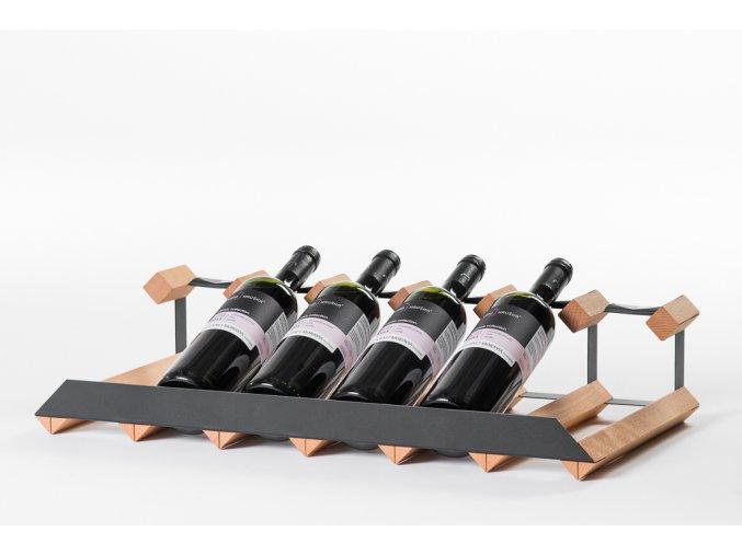 343 3 stojan na vino pultovy s kapacitou 6 lahvi