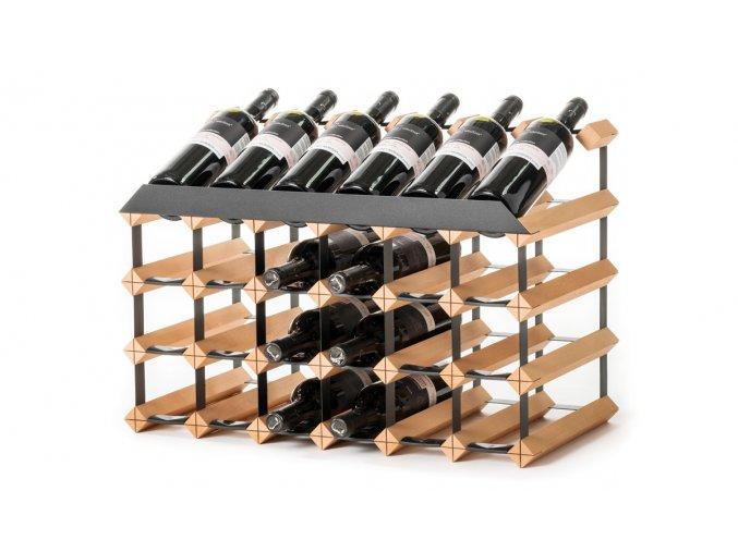 349 pultovy stojan na vino s kapacitou 24 lahvi