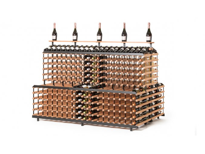 385 patrovy stojan na vino s kapacitou 720 lahvi