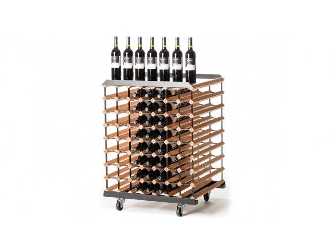 400 pojizdny stojan na vino s kapacitou 112 lahvi