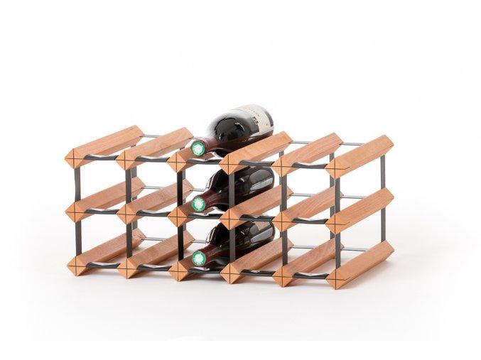 412 stojan na vino s kapacitou 15 lahvi