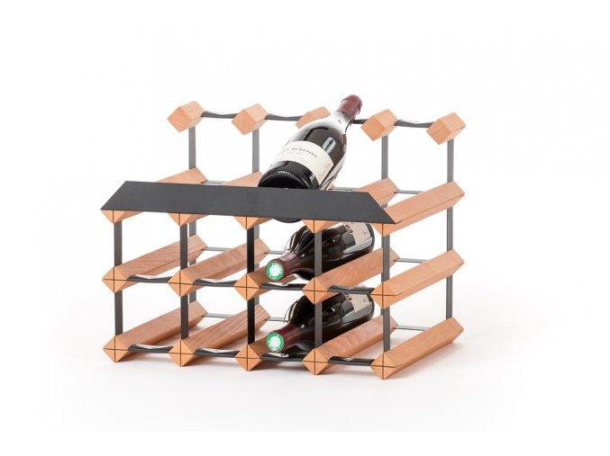 433 stojan na vino pultovy s kapacitou 12 lahvi a