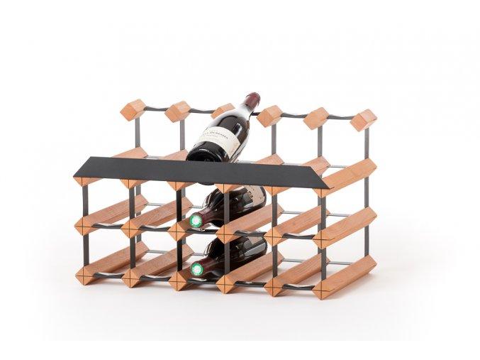 442 stojan na vino pultovy s kapacitou 15 lahvi
