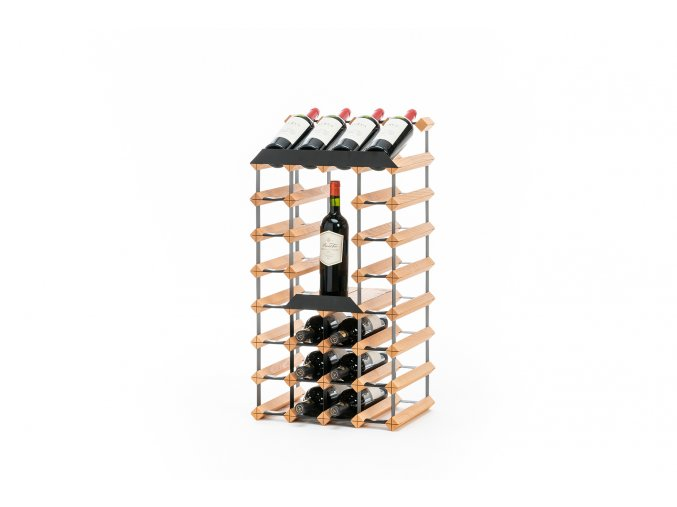 Stojan na víno RAXI s vnitřní policí a horní prezentační řadou