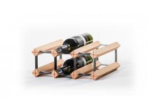 307 stojan na vino s kapacitou 6 lahvi