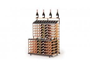 376 stojan na vino patrovy na 180 lahvi