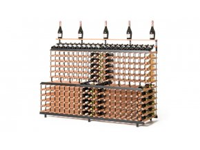 379 patrovy stojan na vino s kapacitou 360 lahvi