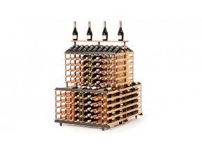 382 stojan na vino s kapacitou 360 lahvi