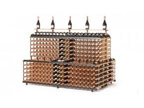 patrový stojan na víno s kapacitou 720 lahvi