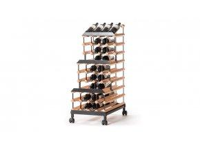 391 pojizdny stojan na vino s kapacitou 48 lahvi