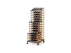 397 pojizdny stojan na vino s kapacitou 90 lahvi