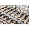 masivní dřevěné hranoly stojanu na víno raxi