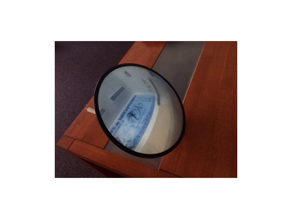 Zrcadlo kontrolní, průměr 500 mm, parabolické